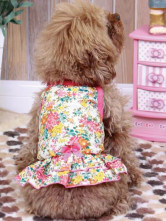 Cute Colorful Floral Cotton Pet Dress