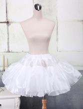 Lolitashow White Organza A-line Lolita Petticoat