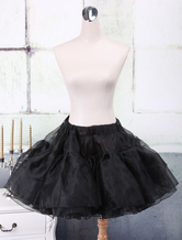 Lolitashow Black Organza A-line Lolita Petticoat