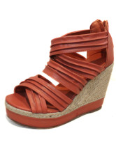 Zip Pleated Wedge Heel PU Womens Espadrilles