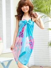 Fabulous Printed Tulle Cover Up For Women