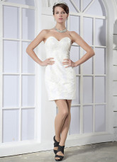 Sweetheart Satin Paillette Women's Cocktail Dress