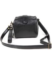 Сладкий черный цилиндрической формы Кожа PU женщин крест тела сумка.