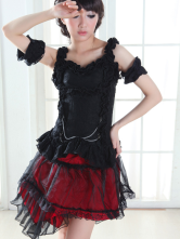 Lolitashow Hime Sleeveless Ruffles Cotton Lolita Blouse