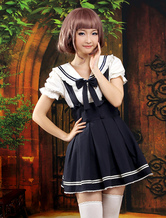 Lolitashow Sweet Multi Color Bow Short Sleeves Cute Lolita Outfits