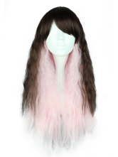 Lolitashow Split Color Rayon Long Lolita Wig