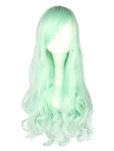Lolitashow Fantastic Mint Green Long Curly Rayon Lolita Wigs