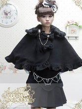 Sweet Wool Blend Ruched Bow Lolita Cloak
