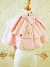 Lolitashow Sweet Bow Buttons Wool Blend Lolita Jacket