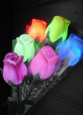 Imitated Flowers PVC Wedding LED Lights Set of 4 in Random Color-No.1