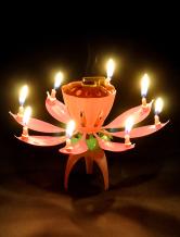 Birthday PVC Lotus Candle Favors -No.1