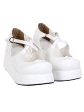 Lolitashow ロリィタ靴 プラットフォーム ストリートウェア 丸いつま先 PU