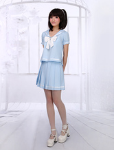 Light Blue Lolita Skirt Sailor Style
