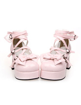 Lolitashow Bows Decor Lolita High Heels