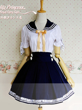 Lolitashow Sweet Navy People Cotton Lolita Outfits