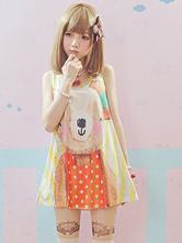 Lolitashow Multi Color Cotton Print Multicolor Lolita Shirt