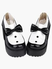 Lolitashow ロリータ靴 ブラック ハイヒール(7.62~10.15cm) プラットフォーム ラウンドトゥ(丸いつま先) カジュアル
