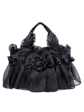 Lolitashow Gothic Lace Synthetic Flowers Lolita Bag