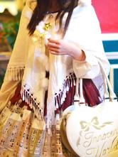 Lolitashow White Synthetic Lolita Shawl for Girls