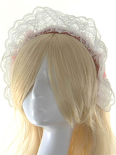 Lolitashow White Lace Synthetic Lolita Hair Accessories for Women