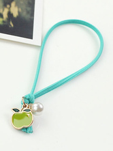 Lolitashow Multicolor Lolita Bracelet Apple Pattern Synthetic Bracelet for Women