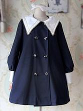 Lolitashow College School Lolita Coat with Sharp Collar