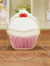 Lolitashow Cute Lolita Bag Pink Mini Ice-cream Lolita Frame Chain Bag