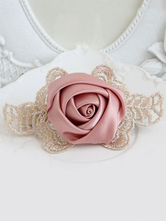 Lolitashow Pink Lolita Hairpin Lace Flower Barrette Lolita Accessories
