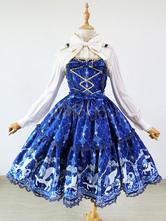 Angelic Pretty Replica Sweet Lolita Dress JSK Royal Blue Lolita Jumper Skirt