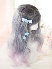 Lolita Haar-Accessoires mit Sternchenmuster in Blau Accessoires im süßen und hübschen Style Polyester