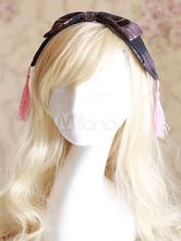 Sweet Lolita Headband Black Plaid Lolita Hair Accessories