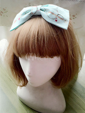 Sweet Lolita Headband Light Blue Printed Cotton Lolita Hair Accessories
