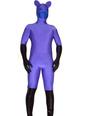 Purple Blue Spandex Unisex Zentai Catsuit 4292