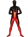 Red&Black Shiny Metallic Zentai Suit for Halloween Halloween 4292