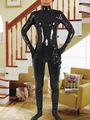 Halloween Black PVC Catsuit Adult Bodysuit 4292