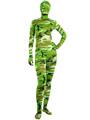 Halloween Green Camouflage Catsuit Zentai Lycra Spandex Unisex Bodysuit 4292