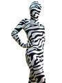 Zebra Print Zentai Suit Halloween Lycra Spandex Animal Costume Halloween 4292