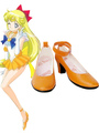 Sailor Moon Sailor Venus Cosplay Shoes Imitated Leather Aino Minako Halloween 4292