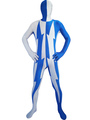 Lycra Two-Tone Zentai Suits For Halloween 4292