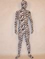 Zebra Stripe Lycra Spandex Unisex Zentai Suit Halloween 4292