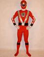 Red Power Rangers Costume Super Hero Lycra Spandex Zentai Suit 4292