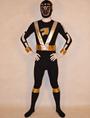 Black Power Rangers Zentai Suit Lycra Spandex Unisex Bodysuit 4292