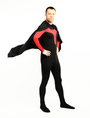 Halloween Dark Black Red Superhero Bodysuit Spandex Lycra Catsuit 4292