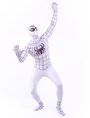 Halloween White Lycra Spandex Bodysuit Inspired by Spiderman Halloween 4292