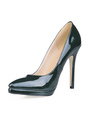 Stiletto Heel Pointed Toe Patent Leather Womens  Pumps 4292