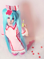 Vocaloid Miku Hatsune Cosplay Costume Nurse Version Halloween 4292