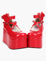 Red Lolita Shoes Platform Red Lolita Flatform Shoes 4292
