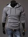 Long Sleeves Pure Color Cotton Blend Sweatshirt 4292