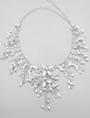 Alloy Wedding Necklace Rhinestone Pearls Decor Bridal Necklace 4292