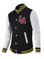 Varsity Jacket Men's Stand Collar Long Sleeve Cotton Jackets 4292